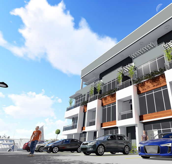 amusa 4 waterfront duplexes for sale in lekki